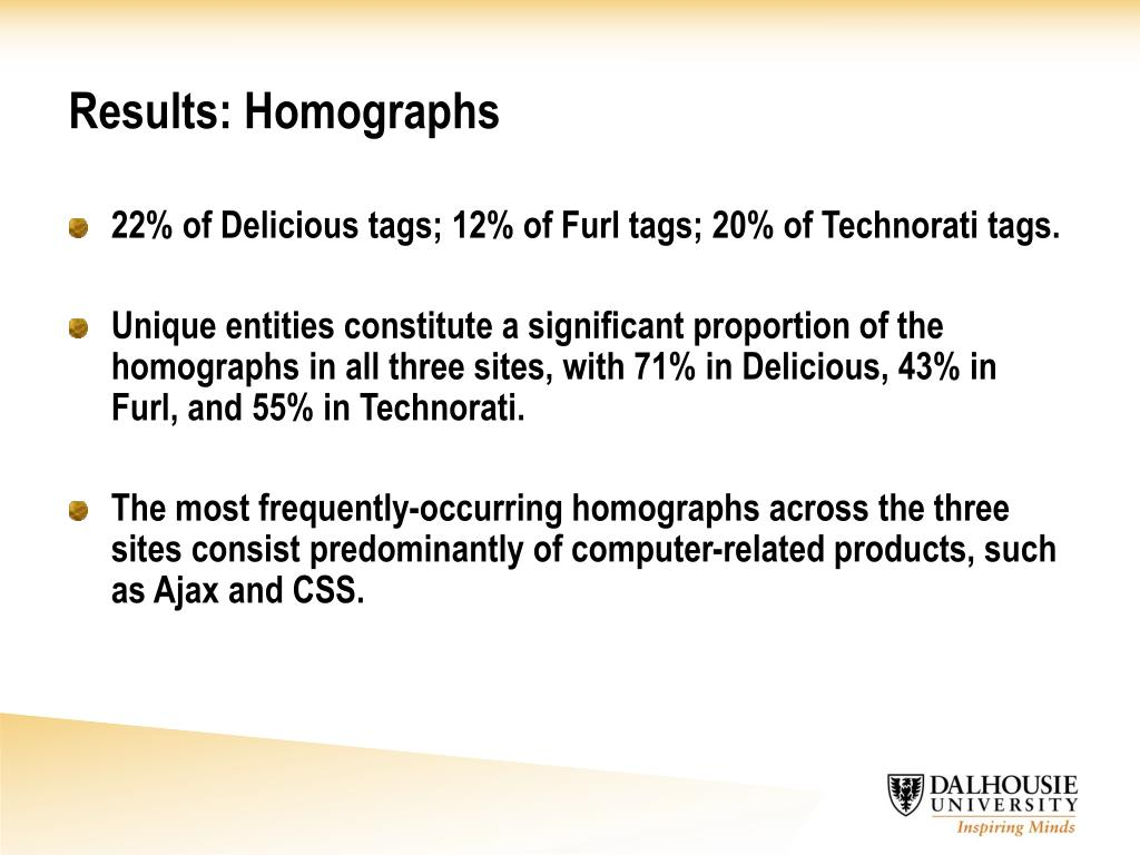 Results: Homographs