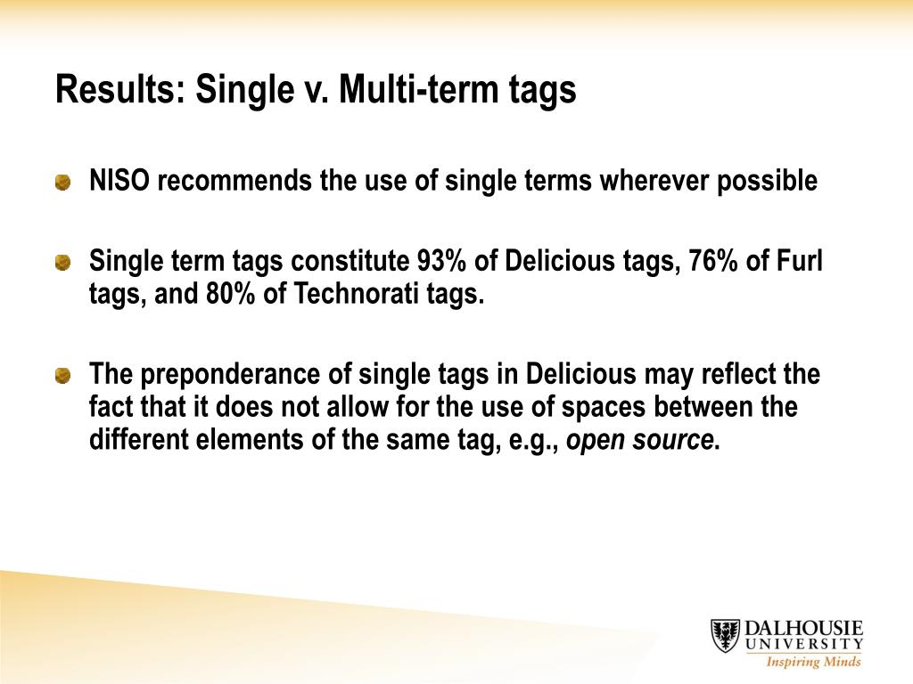 Results: Single v. Multi-term tags