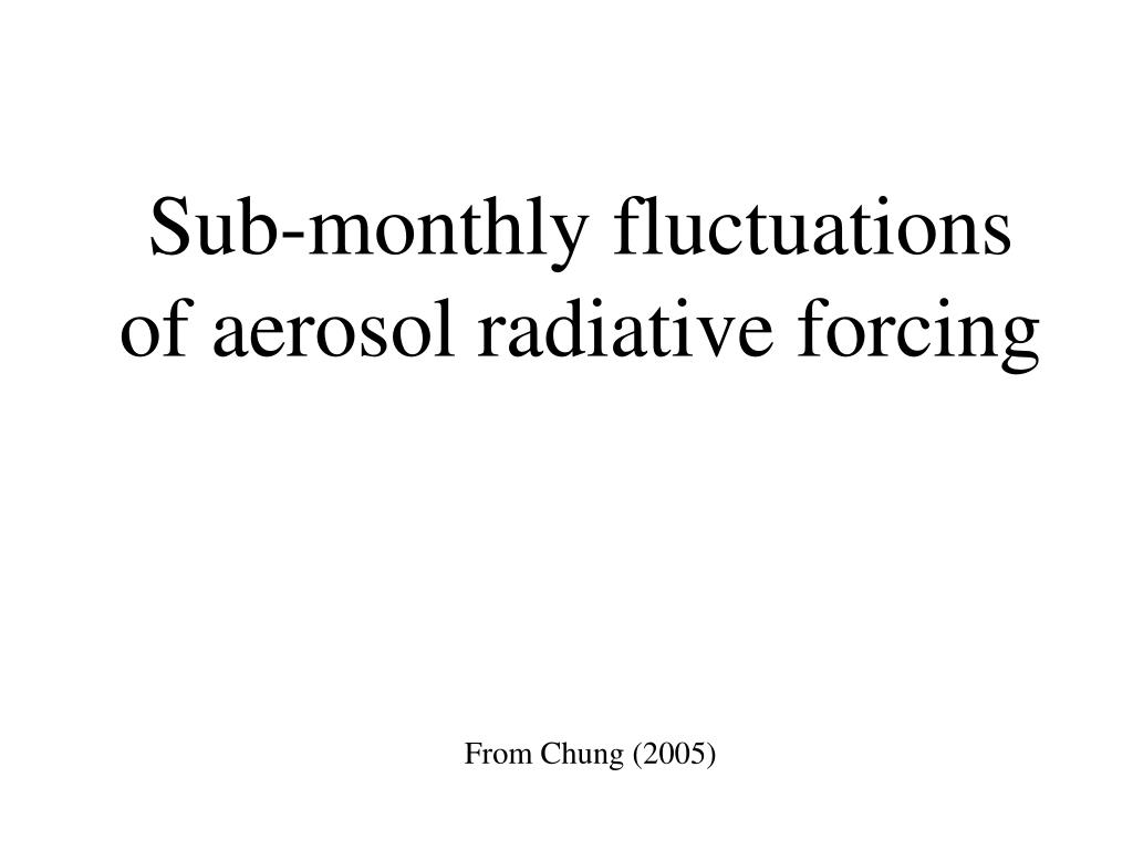 Sub-monthly fluctuations of aerosol radiative forcing