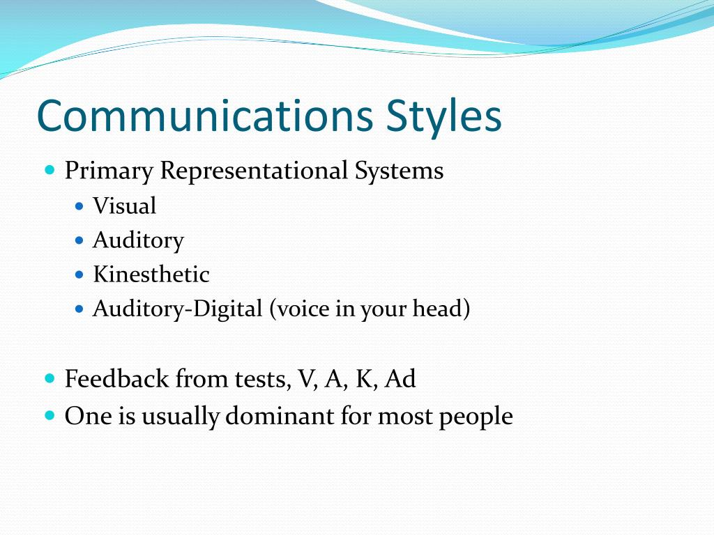 Communications Styles