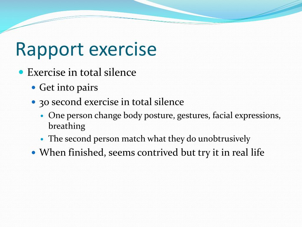 Rapport exercise