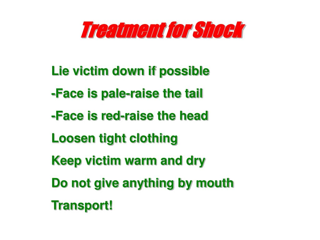 Treatment for Shock