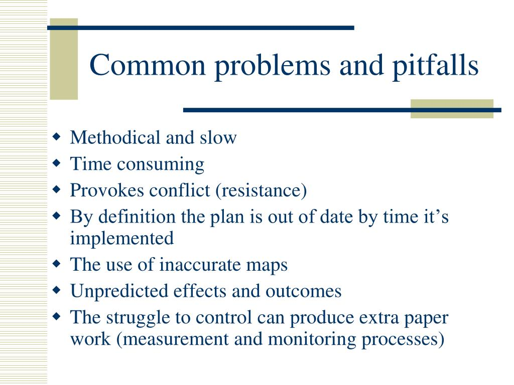 Common problems and pitfalls