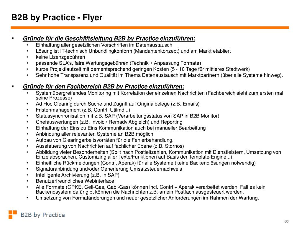 B2B by Practice - Flyer
