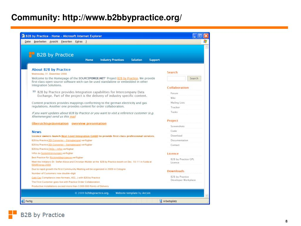 Community: http://www.b2bbypractice.org/