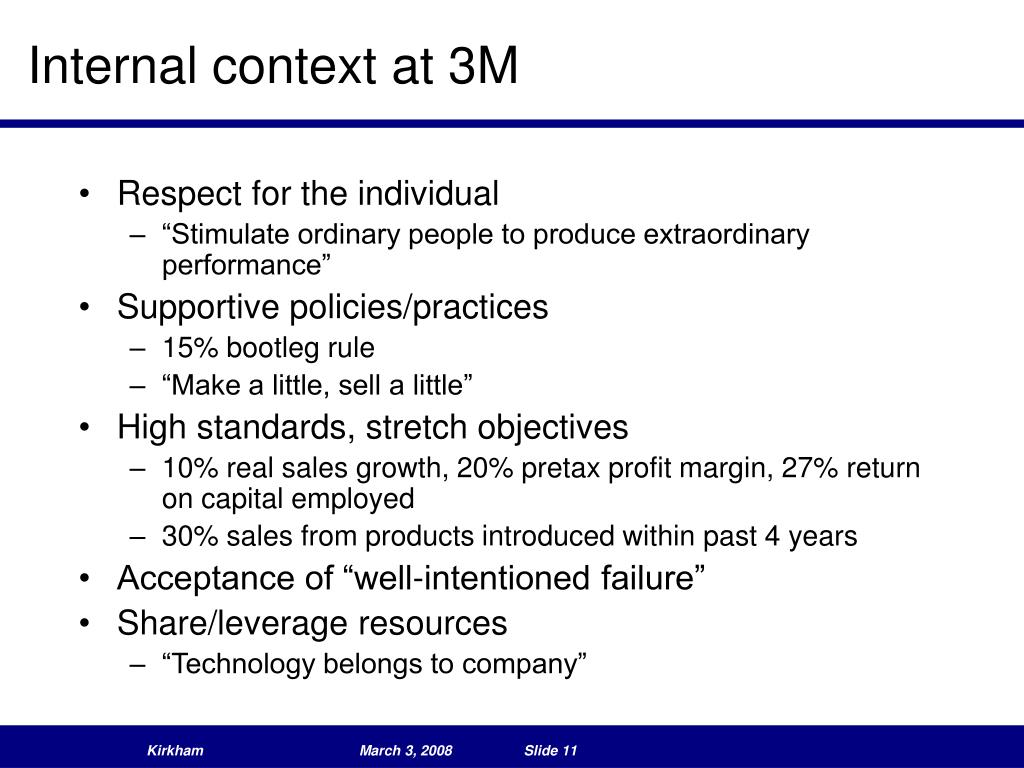 Internal context at 3M
