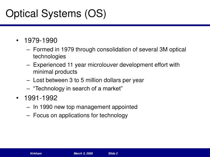 Optical systems os