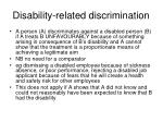 disability related discrimination