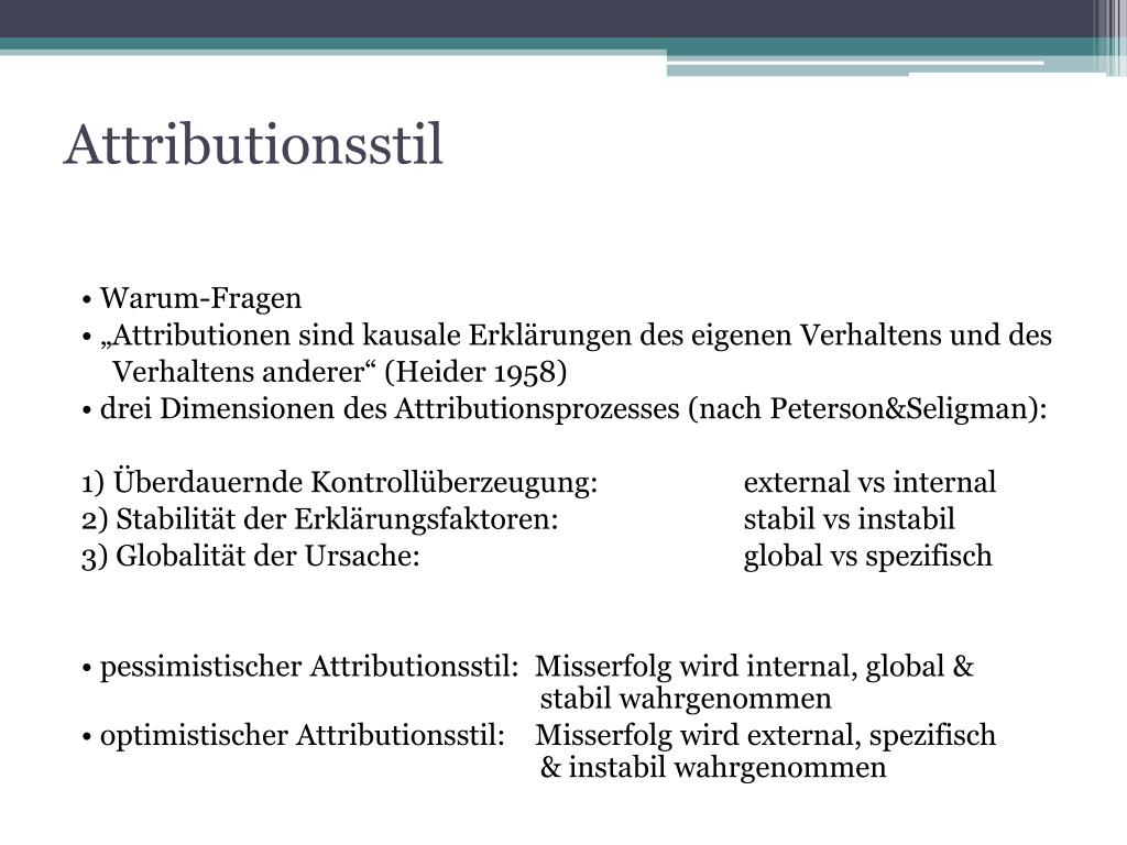 Attributionsstil