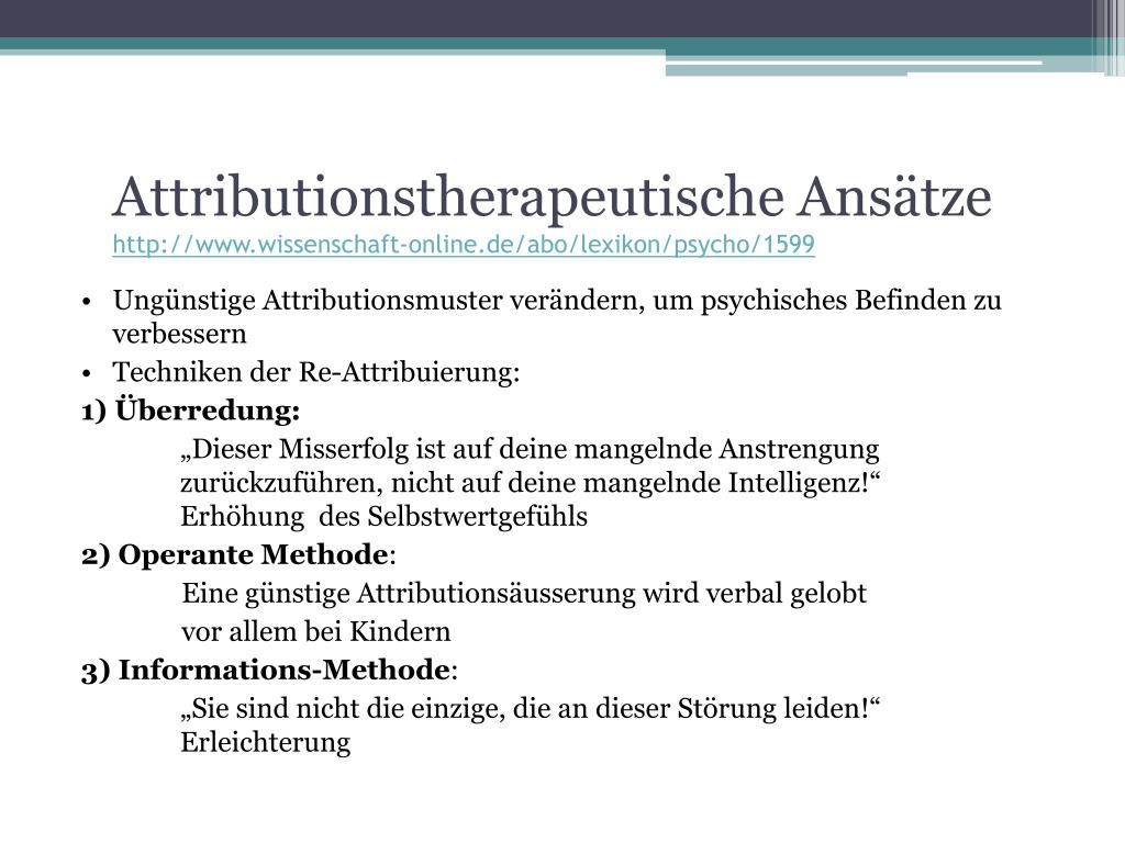 Attributionstherapeutische