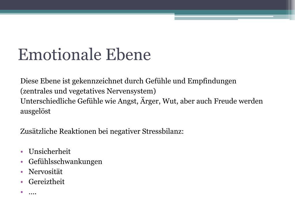 Emotionale Ebene