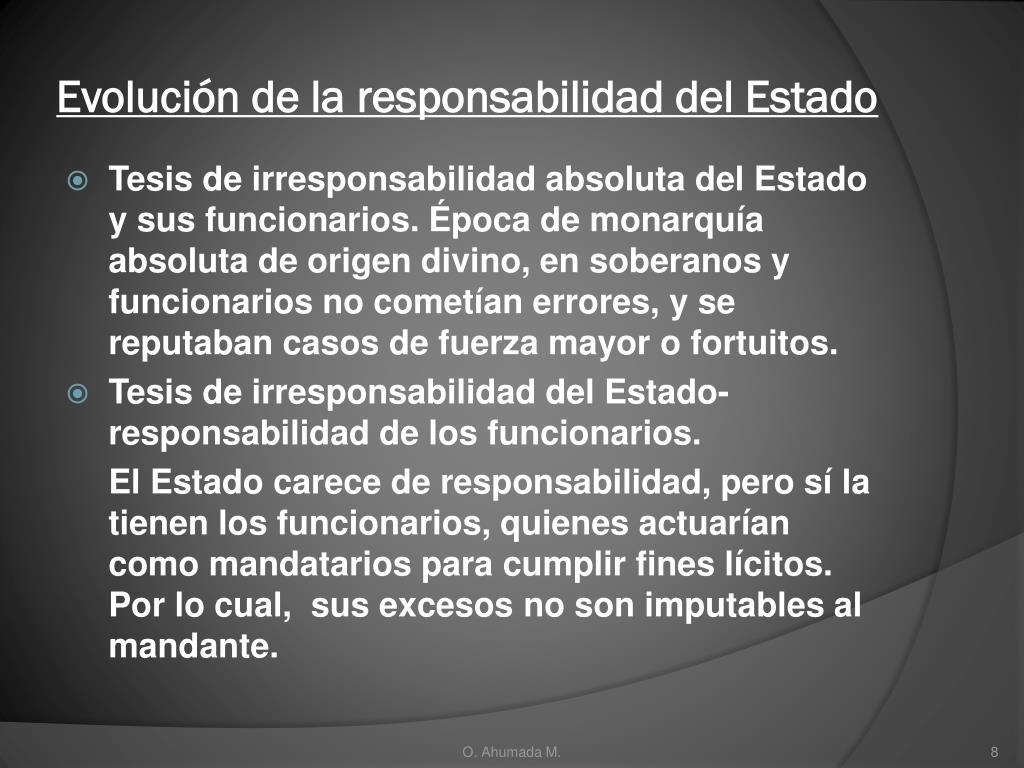 Evolución de la responsabilidad del Estado