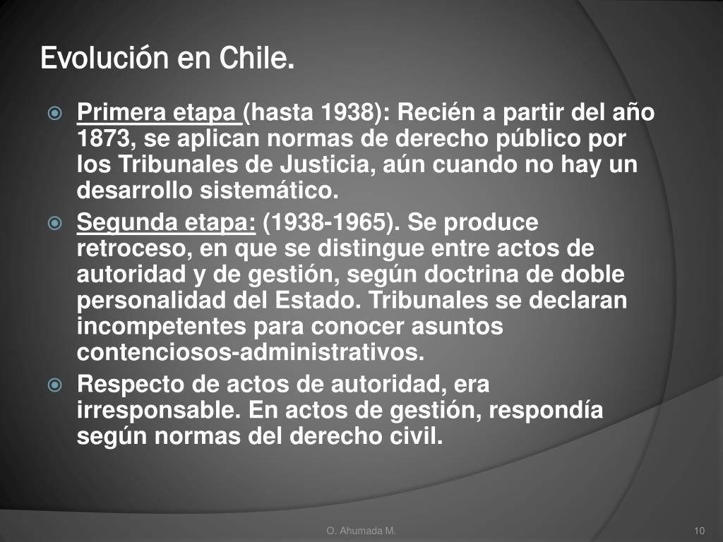 Evolución en Chile.