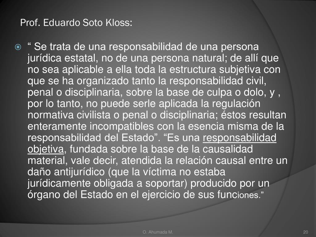 Prof. Eduardo Soto Kloss: