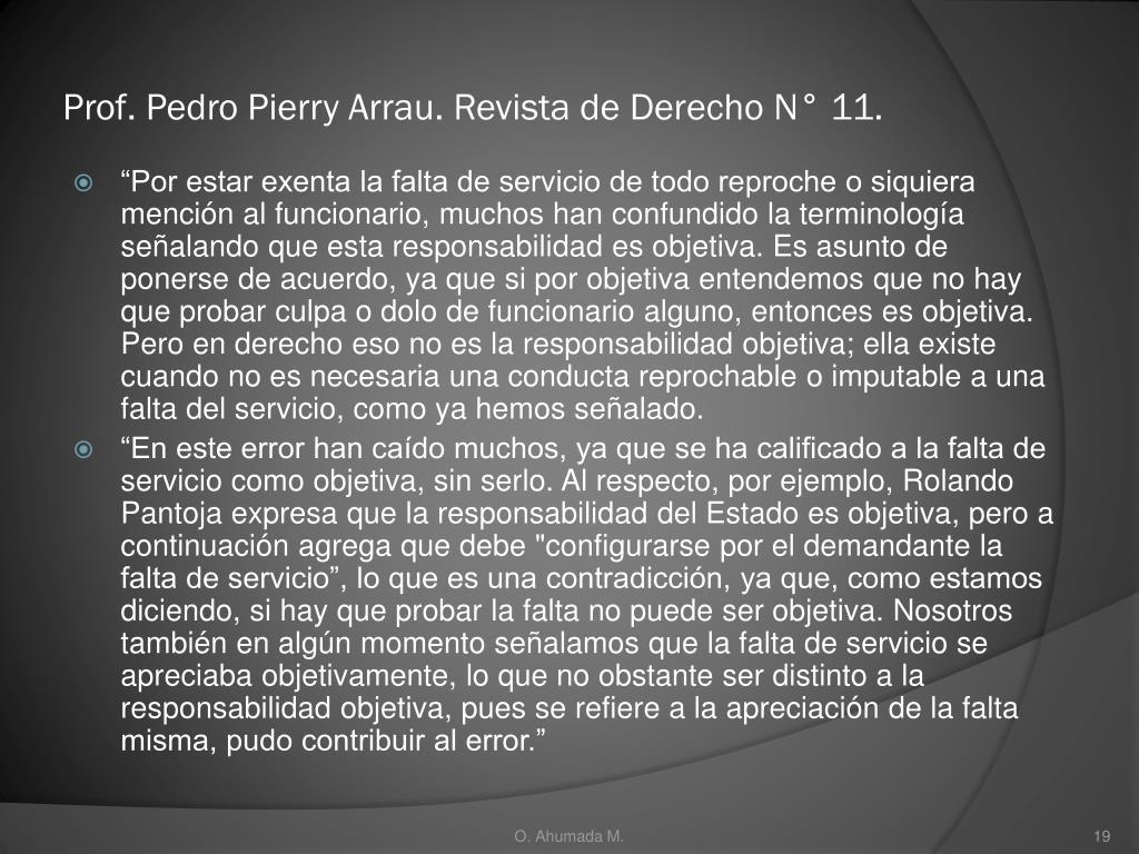 Prof. Pedro Pierry Arrau. Revista de Derecho N° 11.