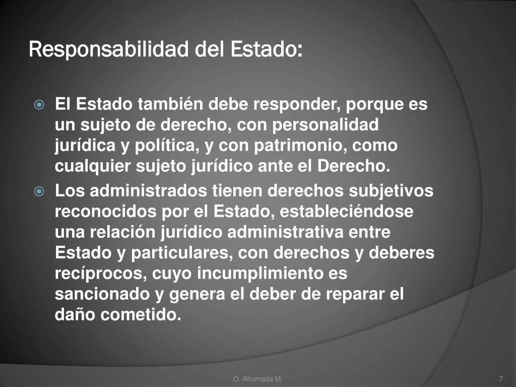 Responsabilidad del Estado: