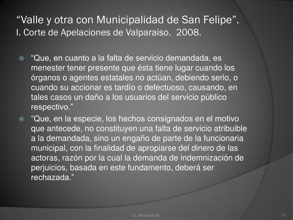 """""""Valle y otra con Municipalidad de San Felipe""""."""