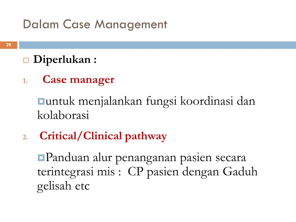 Dalam Case Management