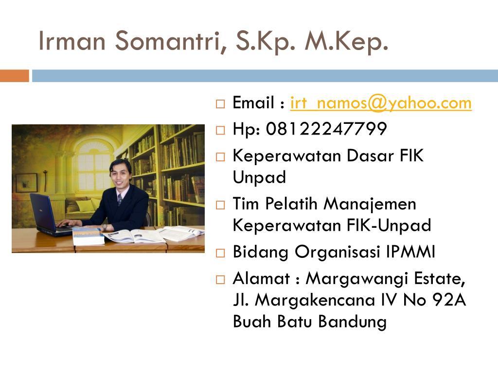 Irman Somantri, S.Kp. M.Kep.