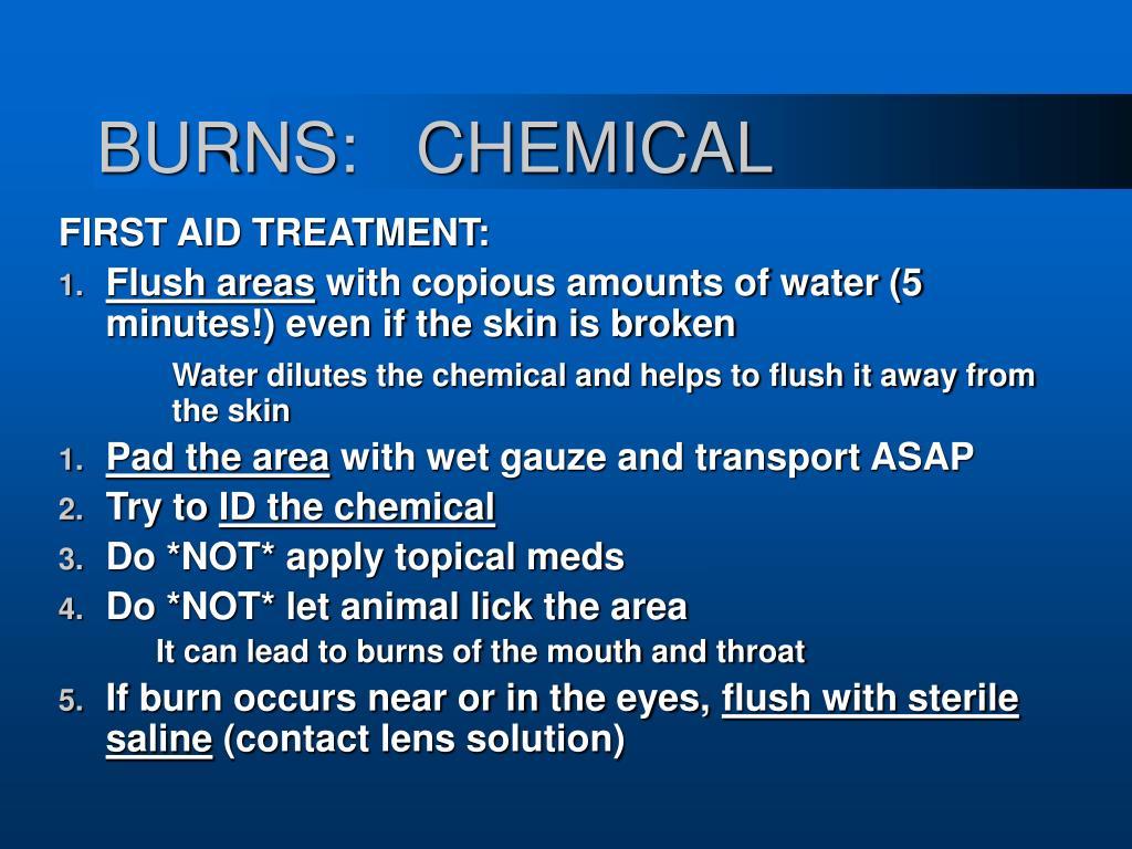 BURNS:   CHEMICAL