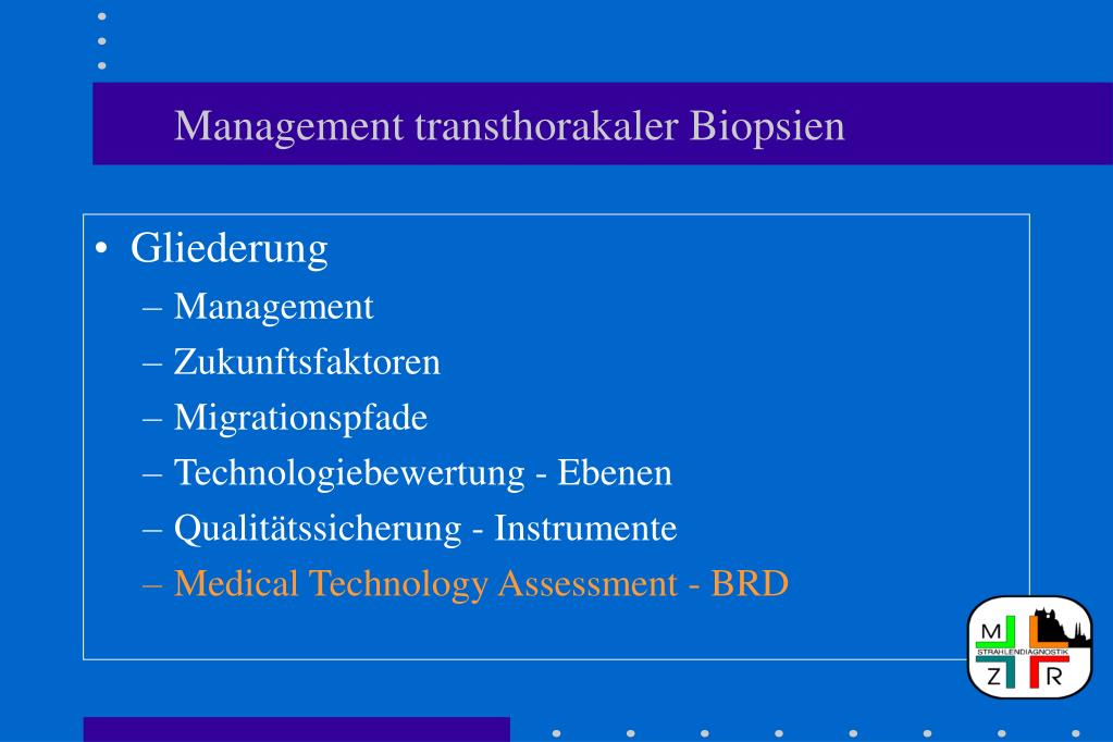 Management transthorakaler Biopsien