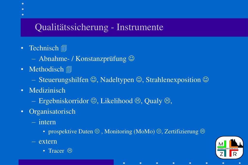 Qualitätssicherung - Instrumente