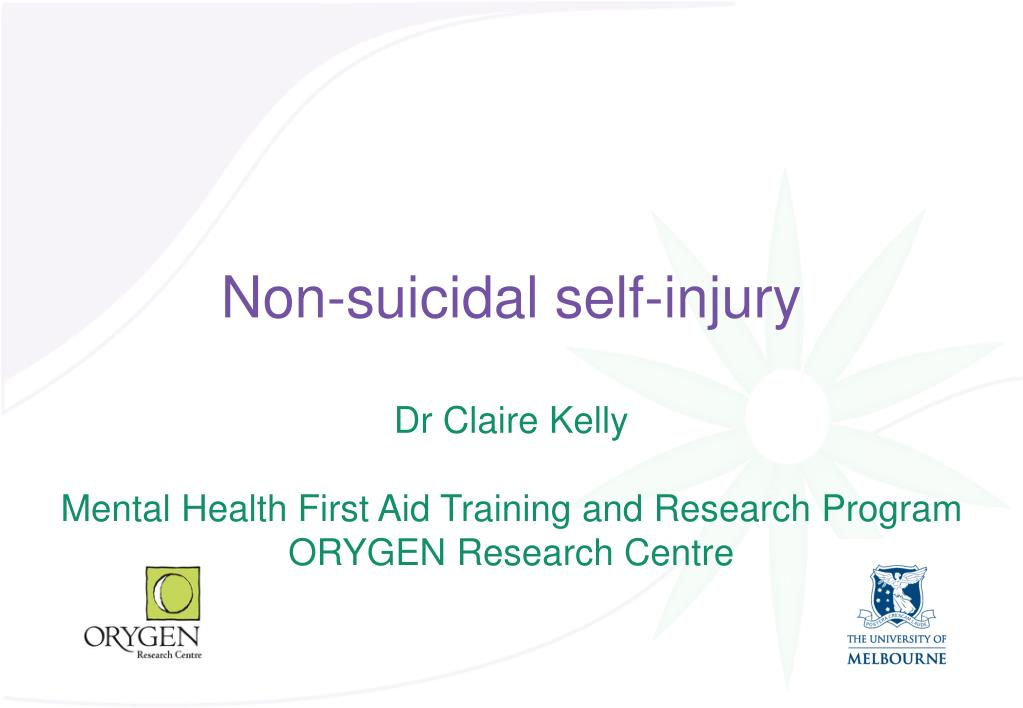 non suicidal self injury