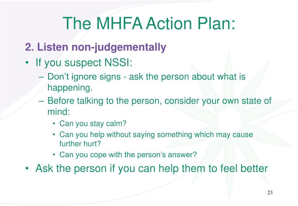The MHFA Action Plan: