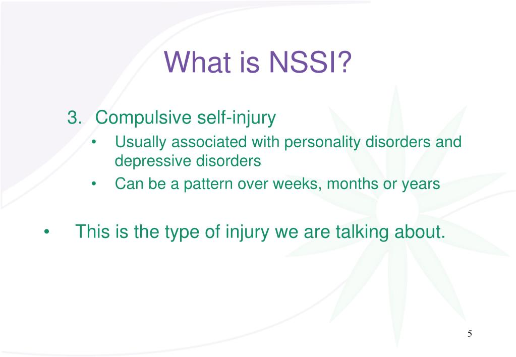What is NSSI?
