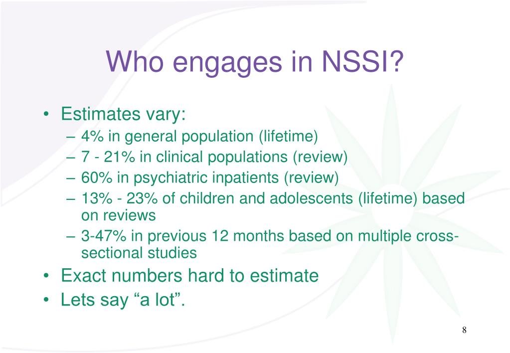 Who engages in NSSI?