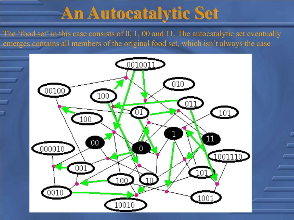 An Autocatalytic Set