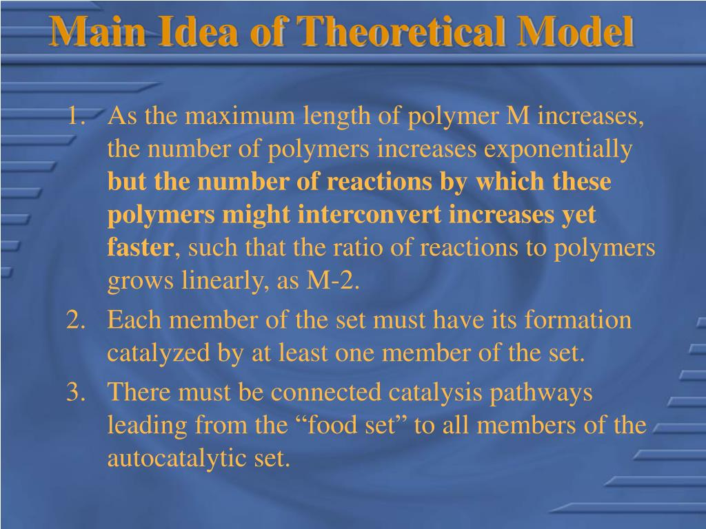 Main Idea of Theoretical Model