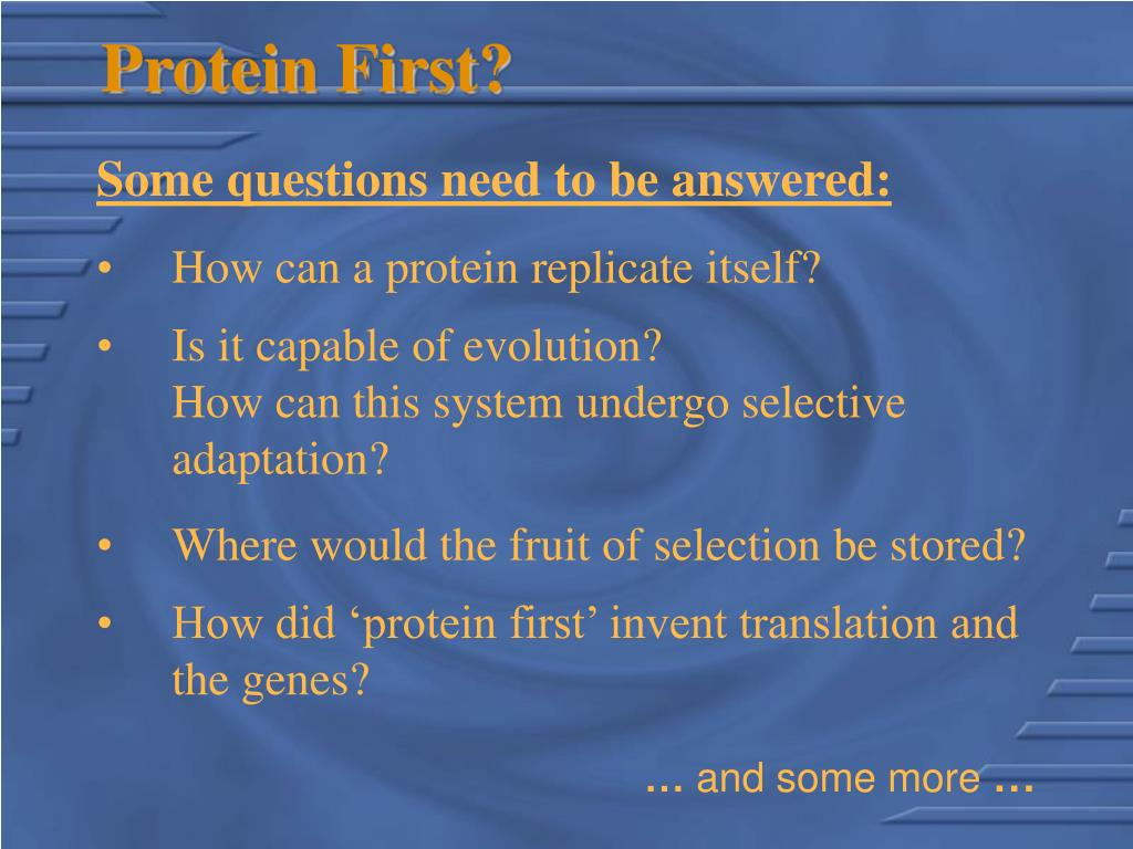 Protein First?