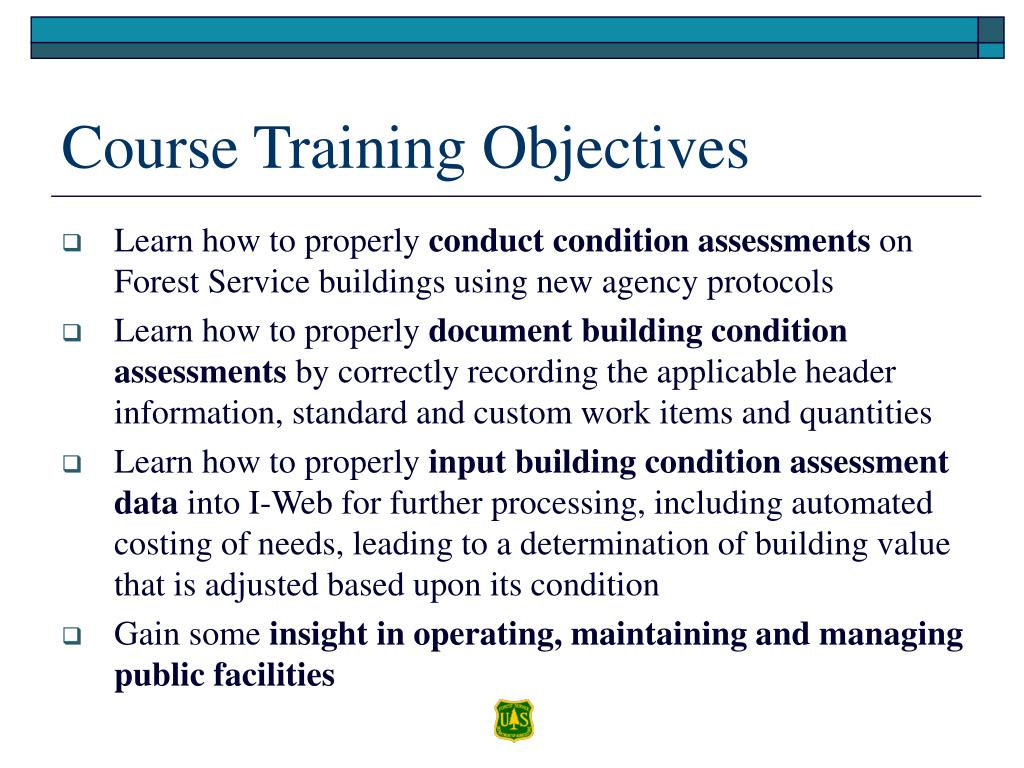 Course Training Objectives