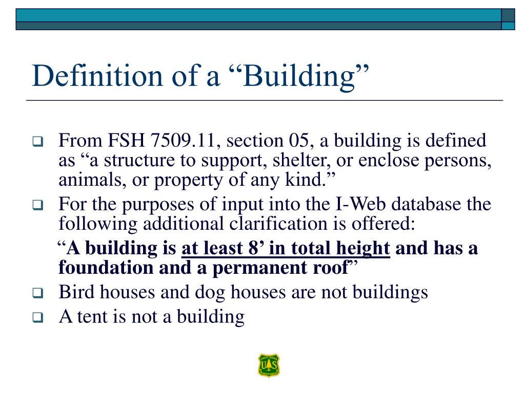 "Definition of a ""Building"""