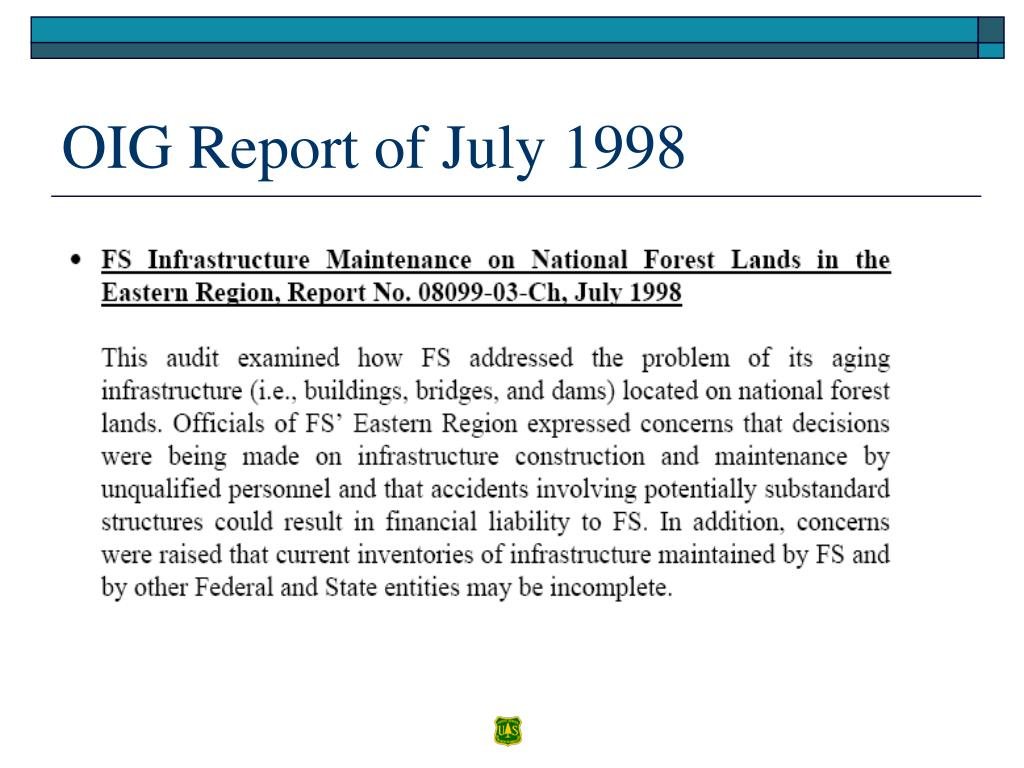 OIG Report of July 1998