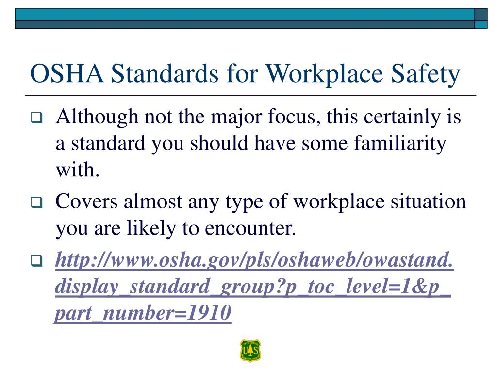 OSHA Standards for Workplace Safety