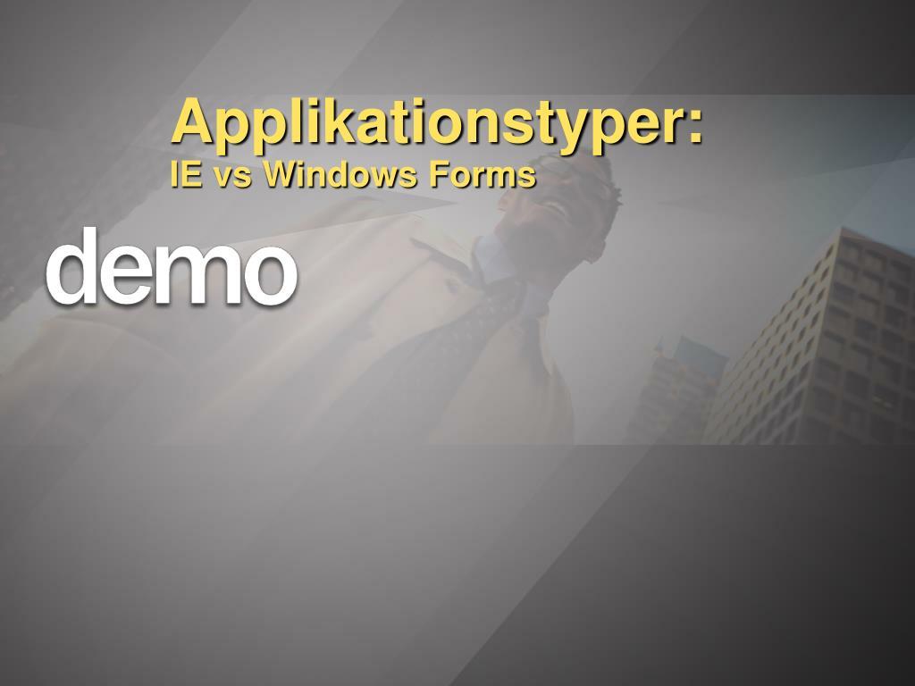 Applikationstyper: