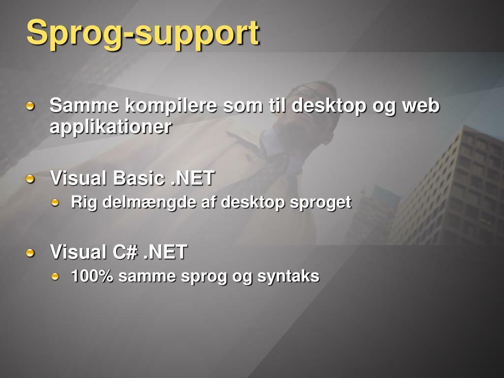 Sprog-support