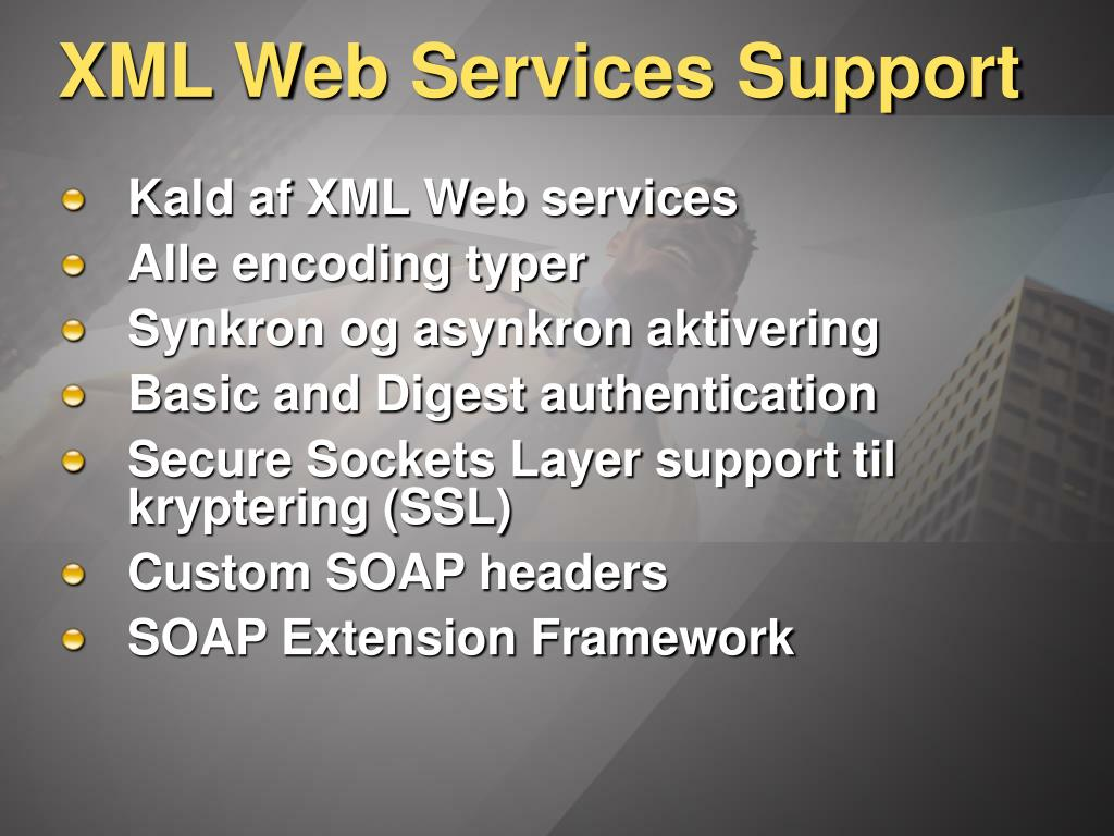 XML Web Services Support