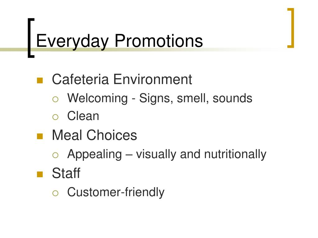 Everyday Promotions