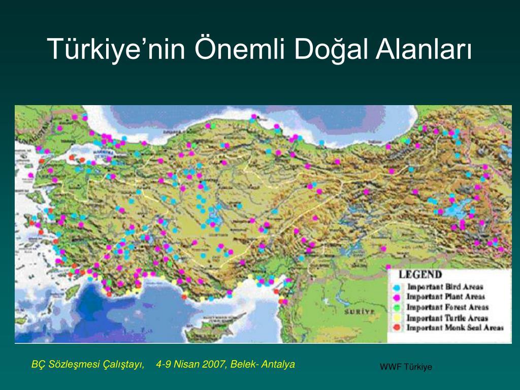 Türkiye'nin Önemli Doğal Alanları