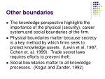 other boundaries