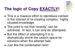 the logic of copy exactly