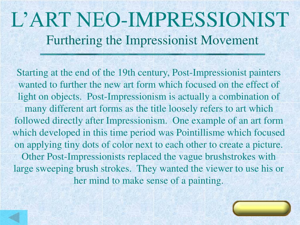 L'ART NEO-IMPRESSIONIST