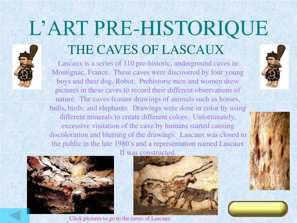 L'ART PRE-HISTORIQUE