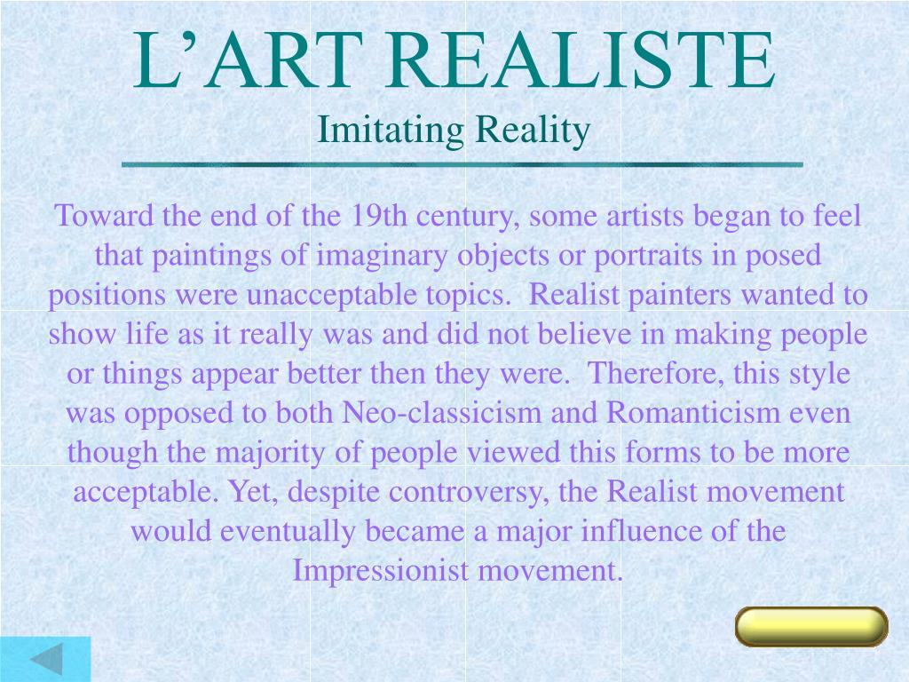 L'ART REALISTE