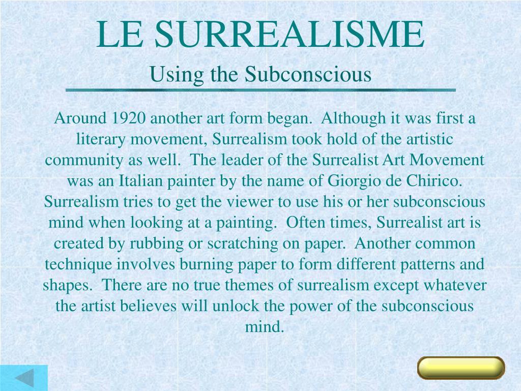 LE SURREALISME