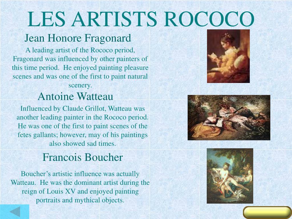 LES ARTISTS ROCOCO