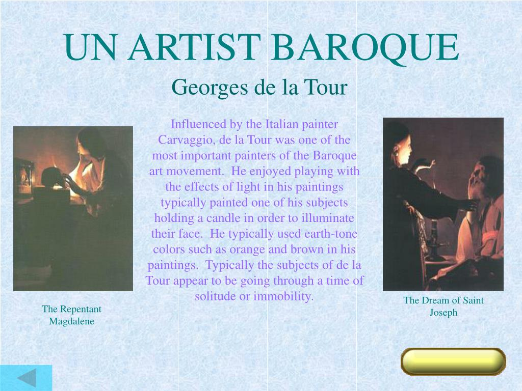 UN ARTIST BAROQUE